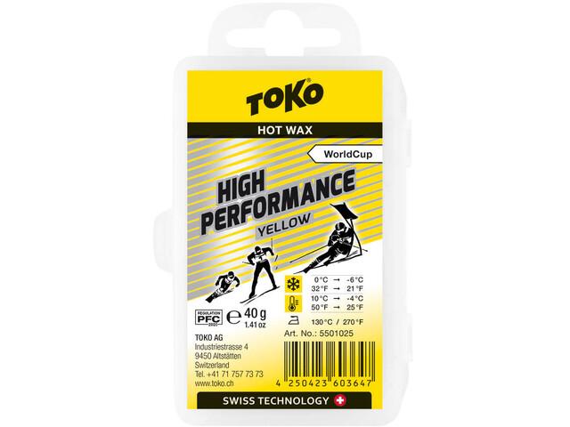 Toko High Performance Cera de Carreras Amarillo 40g
